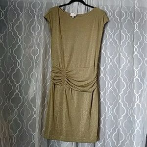 Donna Morgan Gold Party Dress Size 6 Christmas